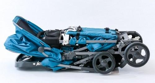 Joovy-Caboose-Ultralight-Graphite-Stroller-folded