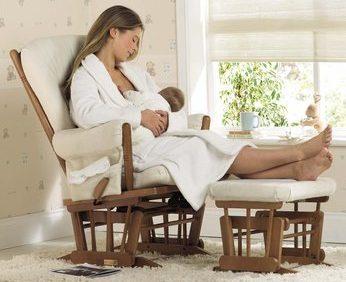 Comfort nursery glider