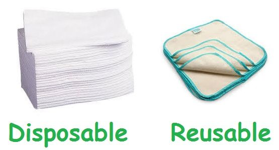 disposable vs reusable wipes