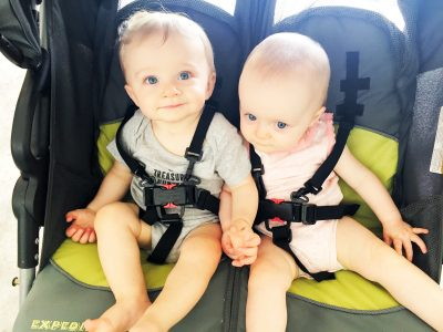 Baby Trend Expedition Double Jogger-cute twins