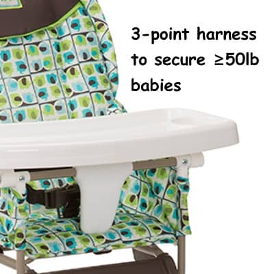 Cosco Simple Fold High Chair - harness