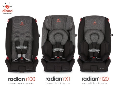 Diono Radian R100 vs R120 vs RXT_together