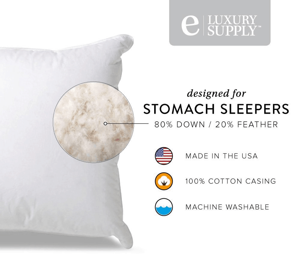 Extra-Soft-Down-Filled-Pillow-for-Stomach-Sleepers-Features