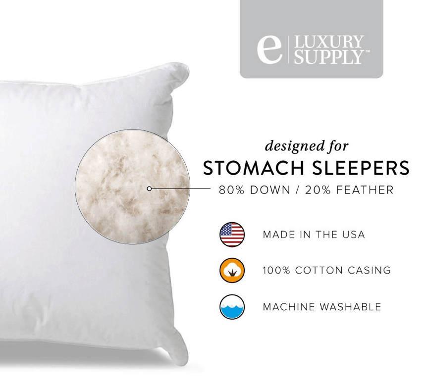 Extra-Soft-Down-Filled-Pillow-for-Stomach-Sleepers