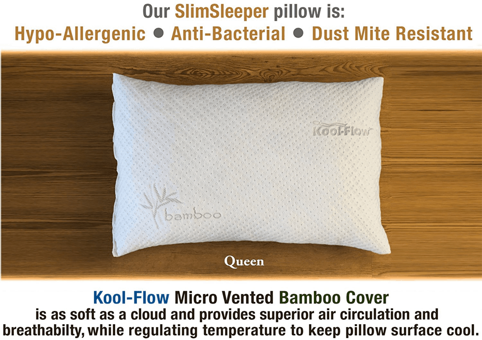 Xtreme-Comforts-Slim-Hypoallergenic-Shredded-Memory-Foam-Standard-Bamboo-Pillow-Features
