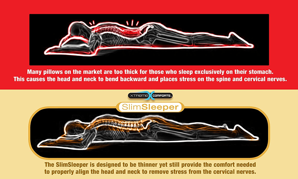 Xtreme-Comforts-Slim-Hypoallergenic-Shredded-Memory-Foam-Standard-Bamboo-Pillow-Sleep-Positions