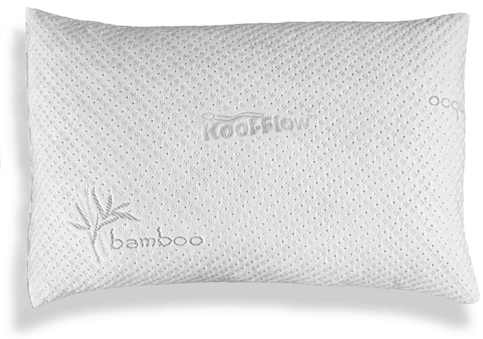 Xtreme-Comforts-Slim-Hypoallergenic-Shredded-Memory-Foam-Standard-Bamboo-Pillow-with-Cover