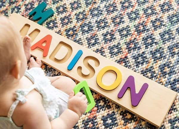Fat Brain Toys Wooden Name Puzzle