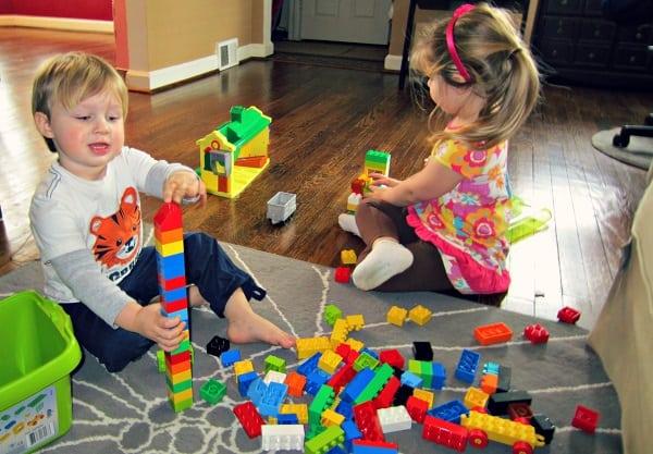 LEGO Duplo Creative Play Fun Box playing together