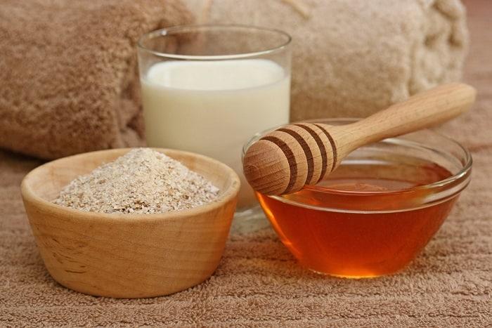 oat-milk, honey, camomile or Shea butter