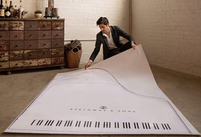 baby grand piano floor sizing