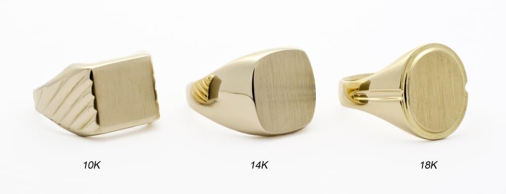 10k vs 14k vs 18k vs 24k Gold rings