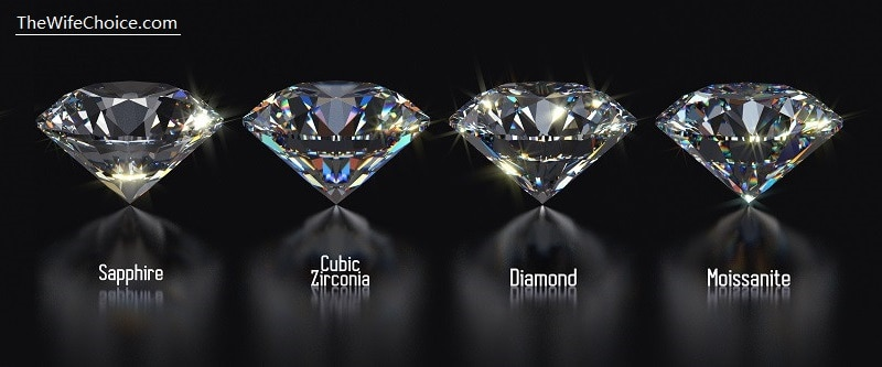 Cubic Zirconia Vs Diamond Vs White Sapphire Vs Moissanite Know The Difference Wife S Choice