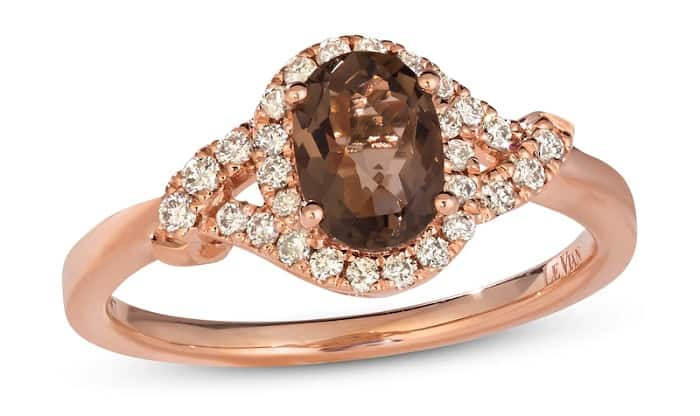 Best Healing Crystals for Anxiety smoky quartz ring