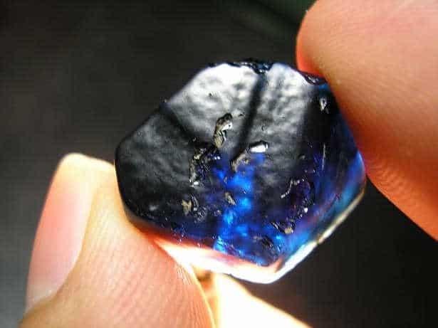 Black Gemstones Black sapphire rough