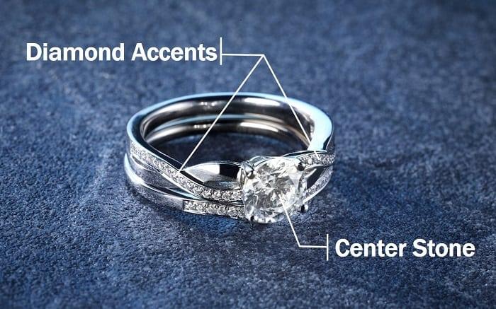 Diamond Accents center stone