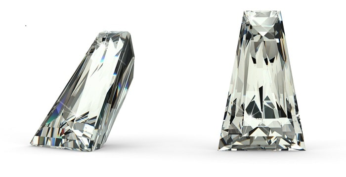 Diamond Accents tapered baguette