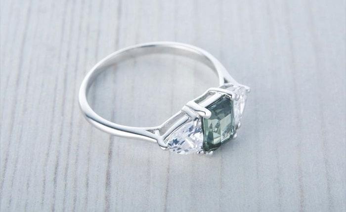 Diamond Accents trillion