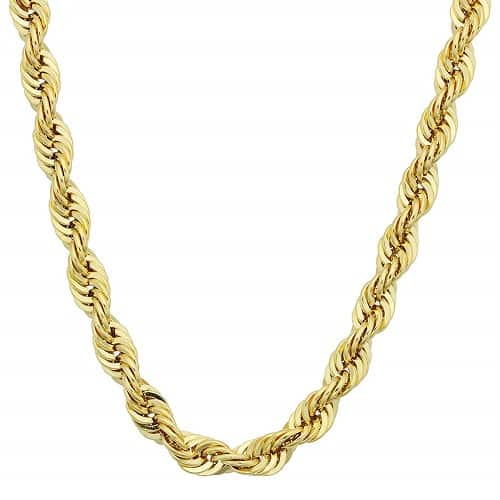 Necklace Chain Types Rope chain