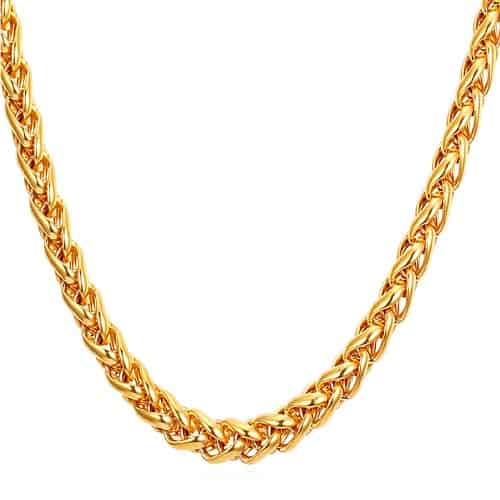 Necklace Chain Types Spiga chain