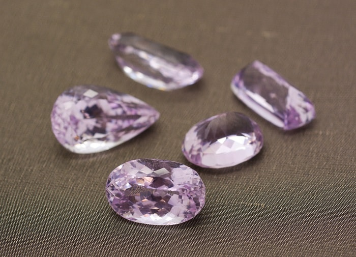 Purple Gemstones List Purple Kunzite