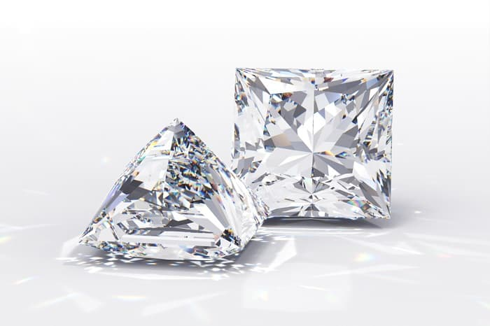 Square Cut Diamonds princess cut diamonds