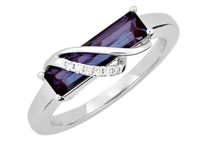 green gemstones list Alexandrite ring