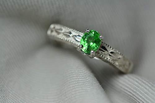 green gemstones list garnet ring