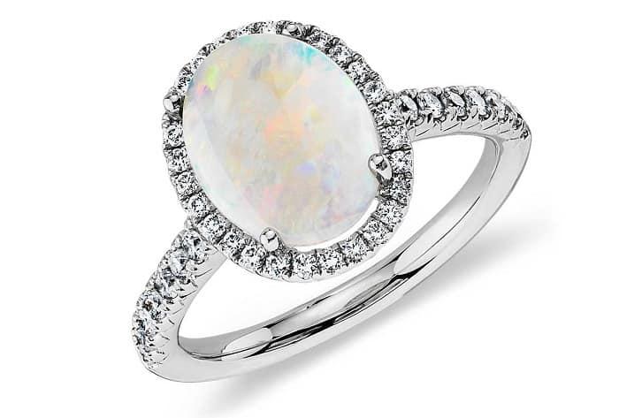 green gemstones list opal diamond melee