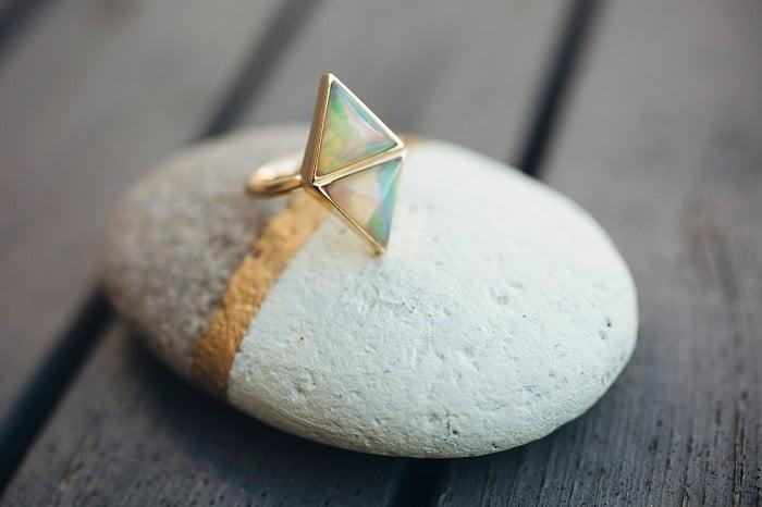 green gemstones list opal ring