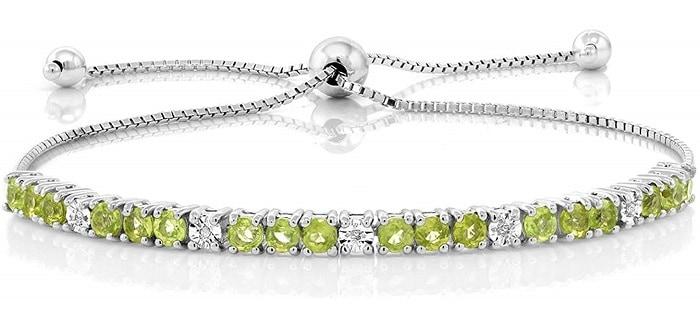 green gemstones list peridot bracelet
