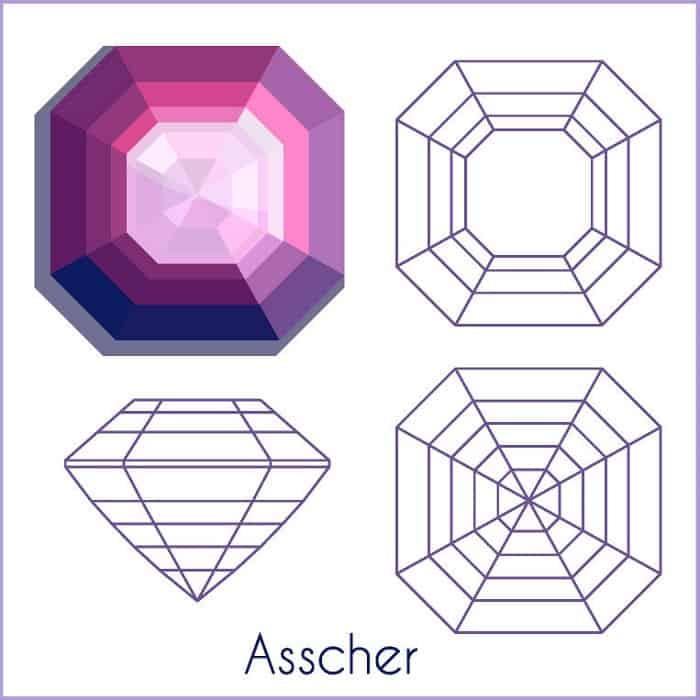 types of diamond cuts Asscher