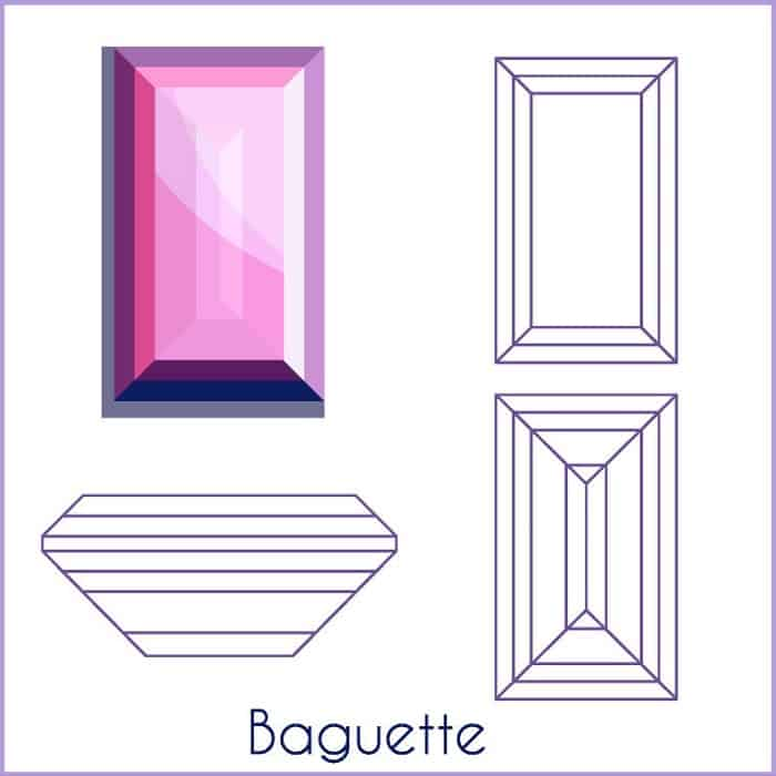 types of diamond cuts Baguettes