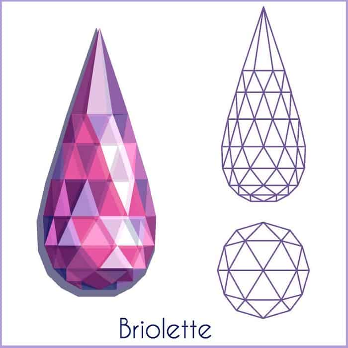 types of diamond cuts Briolette