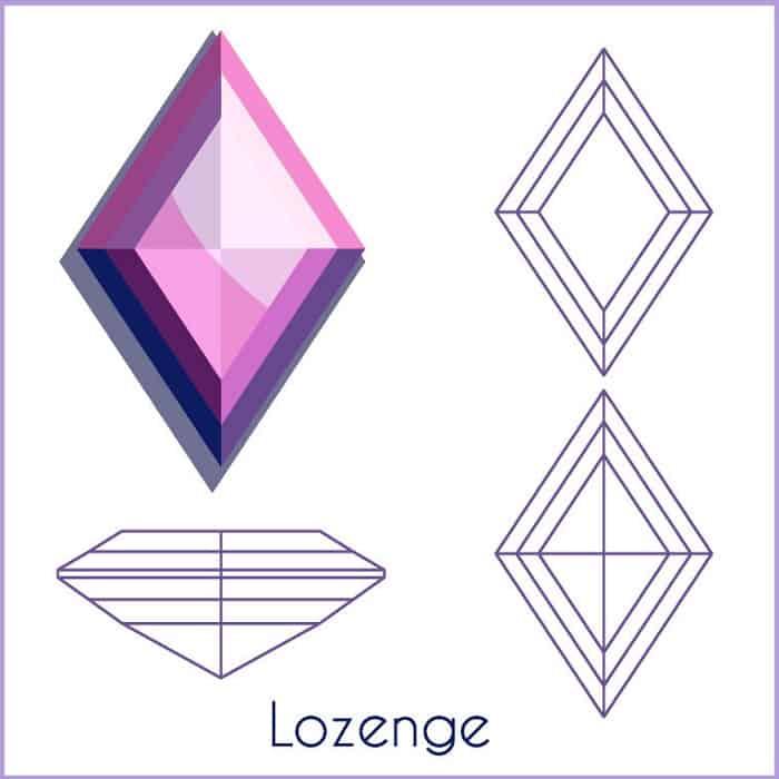 types of diamond cuts Lozenge