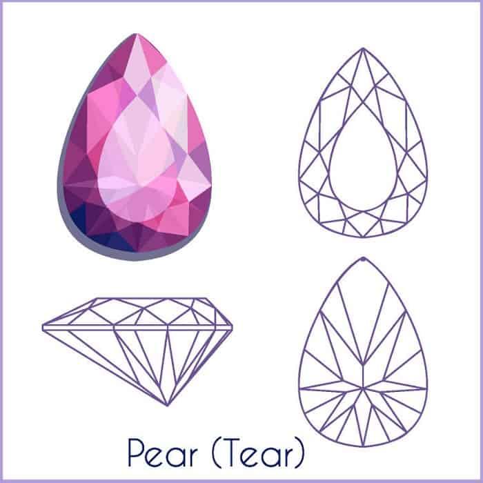 types of diamond cuts PEAR
