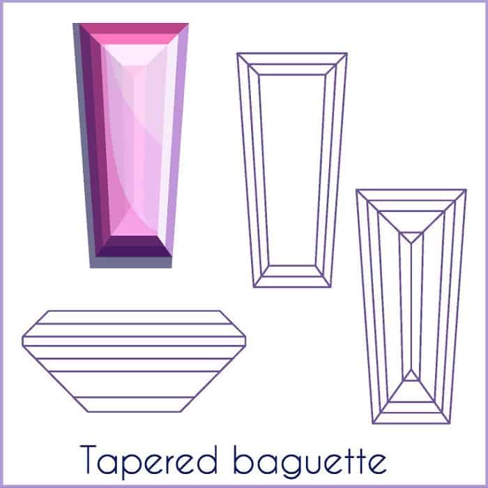 types of diamond cuts Tapered Baguette