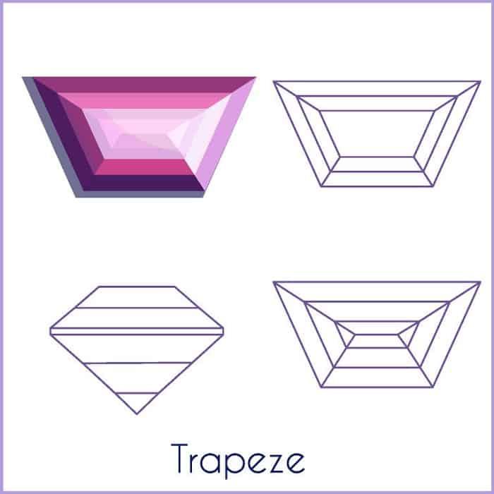types of diamond cuts Trapezoids trapeze