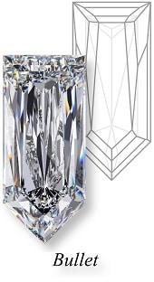 types of diamond cuts bullet