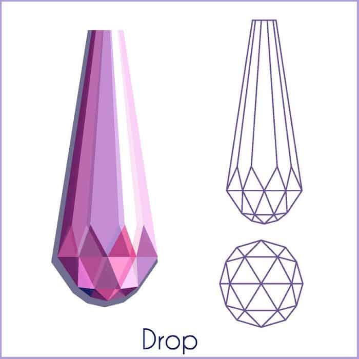 types of diamond cuts drop