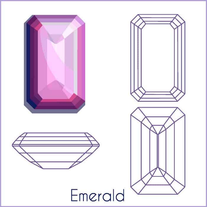 types of diamond cuts emerald