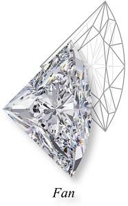 types of diamond cuts fan