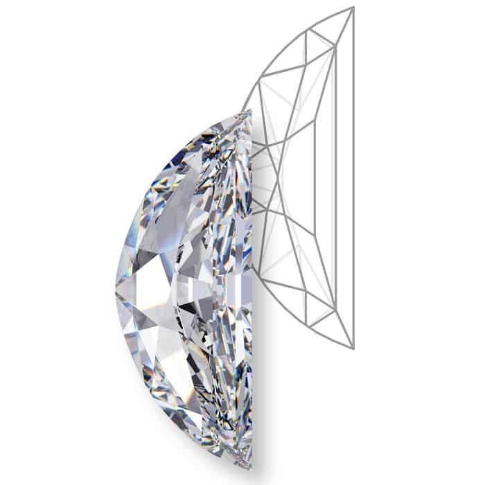 types of diamond cuts half-moon