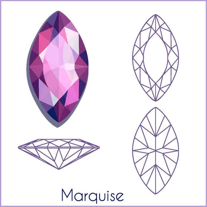 types of diamond cuts marquise