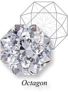 types of diamond cuts octagon