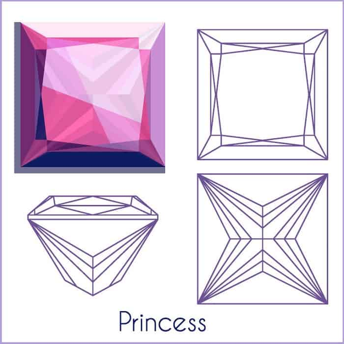 types of diamond cuts princess