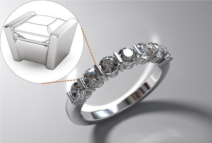 types of ring settings bar ring