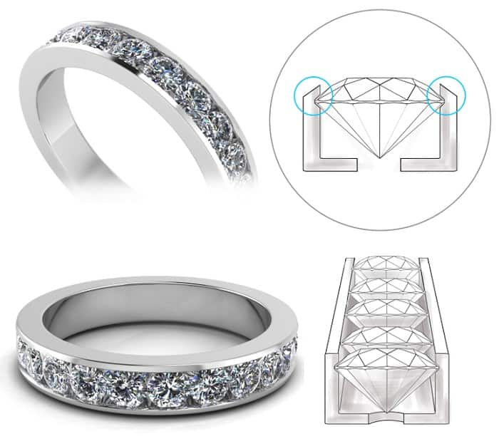 types of ring settings channel