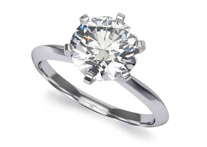types of ring settings prong solitaire