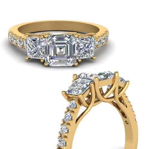 types of ring settings trellis a